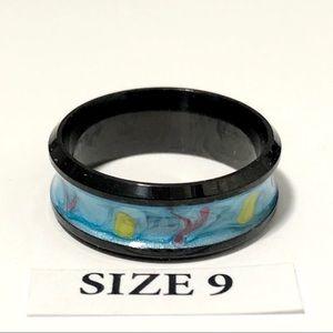 Men's / Women's Black Tone Ring, Size 9